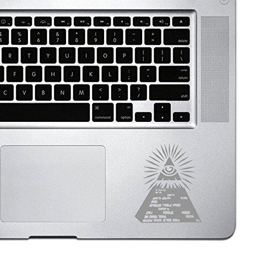 StickAny Palm Series Illuminati Pyramid Sticker for Macbook Pro, Chromebook, and Laptops (Silver)