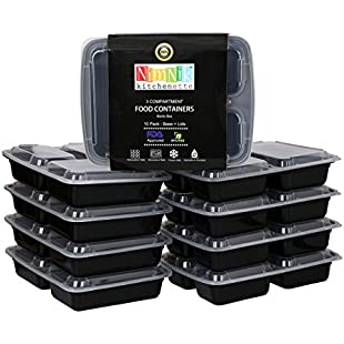 [10 Pack] Meal Prep Food Containers Store Plastic Bento Lunch Box with Lids Stackable Reusable:Diet-beauty