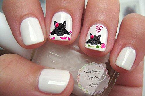 Super Cute French Bulldog Design FB102 Nail Art Decals