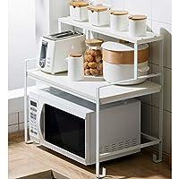 多機能 層別化電子レンジスタンド炭素鋼鉄収納ラックフロアスタンドキッチン用品台所オーガナイザーに最適なラック LINGZHIGAN (Size : A)