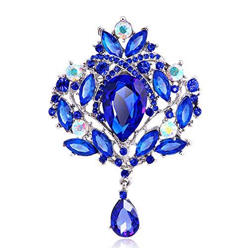 Mcuties Brooch Broche Broche De Cristal Brillante Broche De Fantasía Versátil Traje Broche De Joyería, F