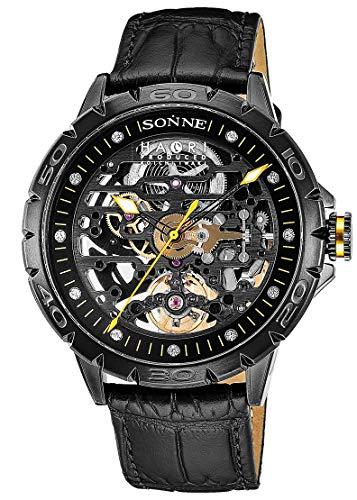[ゾンネ] 腕時計 H023 H023BK-BK メンズ ブラック