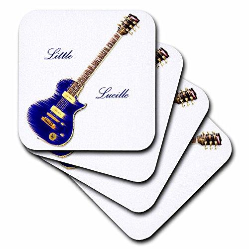 3dRose LLC Gitarre Little Lucille Untersetzer, weich, 4 Stück