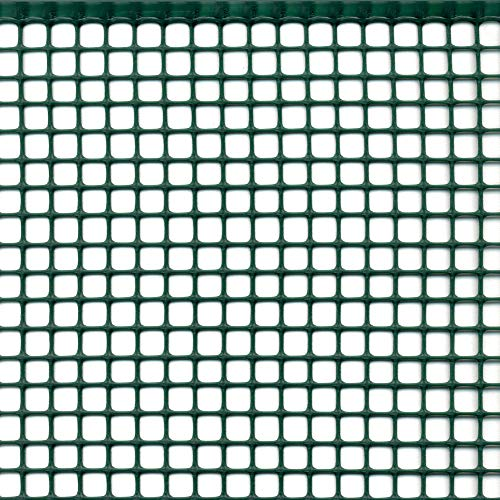 tenax Quadra 10, Verde, 1,00 x 10 m, Rete in Plastica a Maglia Quadrata, Protezione Balconi, Cancelli e Recinzioni