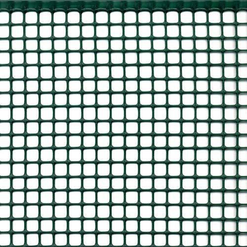 Tenax Quadra 10 - Red de plástico de Malla Cuadrada, Color Verde, 1,00 x 10 m