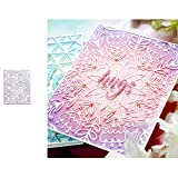 <span class='highlight'><span class='highlight'>wiFndTu</span></span> Cutting Dies, Flower Background Metal Cutting Dies DIY Scrapbooking Emboss Paper Cards Stencil - Silver