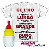 Bombo T-Shirt biberon 18 Anni Lungo Grande Duro Regalo umoristico Spiritoso