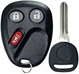 KeylessOption Keyless Entry Remote Car Key Fob and Key Replacement For 15008008, 15008009