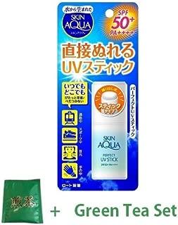 Skin Aqua Rohto New Sunscreen Perfect UV Stick SPF50+^PA++++ 10g (Green Tea Set)