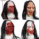 Briskorry Máscara de zombi de cabeza completa, de Resident Evil, monstruo, disfraz de terror, fiesta de goma, máscara de látex para Halloween (Multicolor3, 1 unidad)