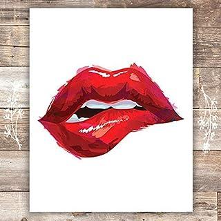 Red Lips Art Print - Unframed - 8x10 | Fashion Wall Decor