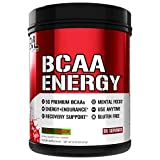 Evlution Nutrition BCAA Energy - Essential BCAA Amino Acids, Vitamin C + Natural Energizers for Performance, Immune Support, Muscle Building, Recovery, B Vitamins, Pre Workout, 65 Serv, Cherry Limeade