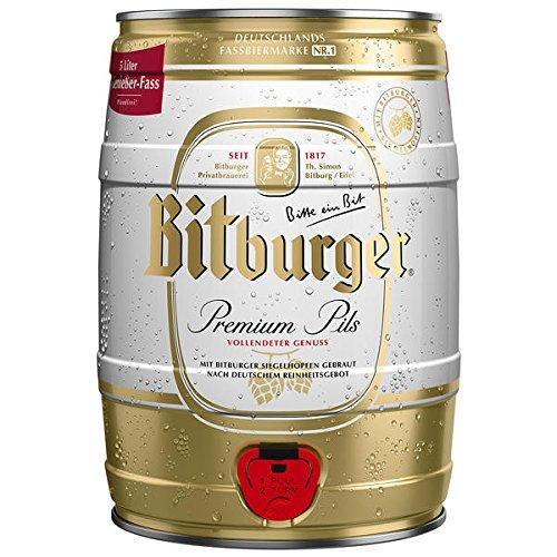 Bitburger Pils Fass, 2er Pack, (2 x 5 Liter)