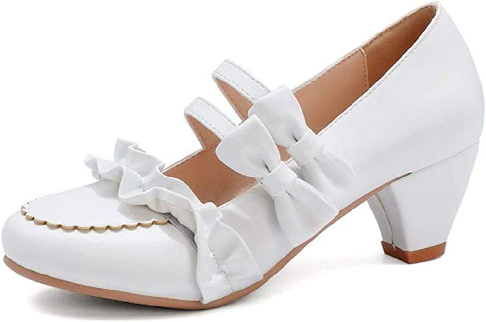 Max 85% OFF Vimisaoi Mary Janes Shoes for Women Lolita Max 41% OFF Heel Pump Mid Slip-on
