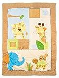Baby Fühl- Krabbeldecke, Zoo Tiere, 120 x 90 cm