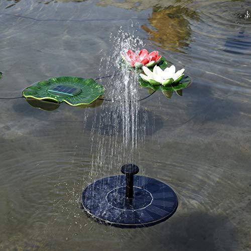 YHML Solar Rotonda Fontana Galleggiante Fontana di Acqua Fontaine per La Decorazione del Giardino Solare Fontein Stagno Cascata