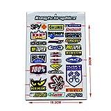 KUNGFU GRAPHICS カンフー グラフィックス ステッカー レーシングスポンサーロゴ マイクロデカールシート(ホワイト レッド) (MSS(23))