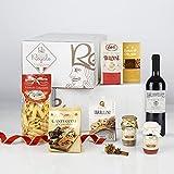 RE REGALO KIT DEGUSTAZIONE PICCOLA ITALIA Cesto 7 pezzi Cioccolato, Gelatine di frutta, Cantucci,...