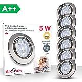 B.K. Licht lot de 6 spots LED encastrables orientables dimmables, ampoules 6x5W...