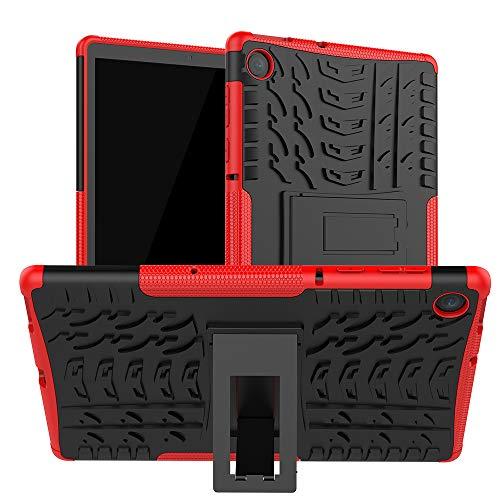 XITODA Funda Lenovo Tab M10 FHD Plus,TPU Silicone + PC Back con Kickstand Protección Carcasa para Lenovo Tab M10 FHD Plus 10,3 Pulgadas TB-X606F/X606X Tablet,Rojo