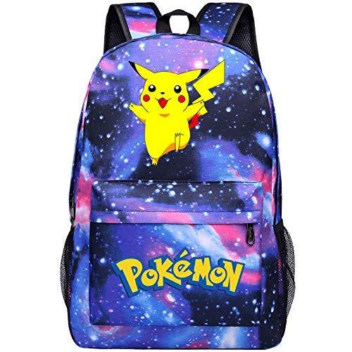 Pokemon School Bag Luminoso Pocket Go Monster School Bag Magical Pikachu Bebé Mochila Anime Rodeando Mochila Escolar