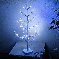 ブランチツリー led ホワイト 60cm LEDツリー クリスマスツリー イルミネーション ライト 飾り おしゃれ コンセント 玄関 リビング インテリア 白樺 ミニ 卓上