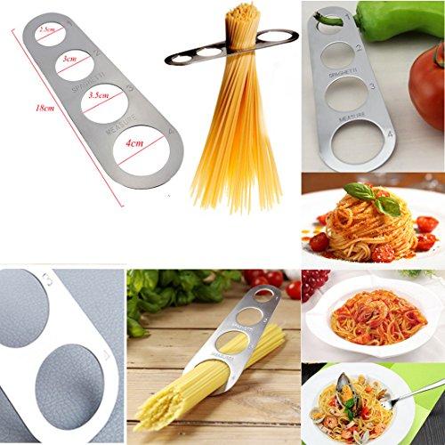 JJPRIME Medidor Espaguetis Acero Inoxidable 4 Agujeros