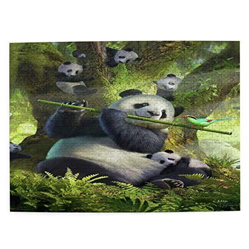 CVSANALA Jigsaw Picture Puzzles 500 Stück,Panda,Bildungs Familienspiel Wandkunstwerk Geschenk für Erwachsene,Teenager,Kinder,20.4 x 15Zoll