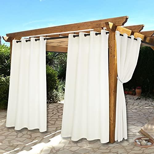 BONZER Waterproof Indoor/Outdoor Curtains for Patio - Thermal...