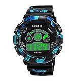 Holeider Herren Digitale Armbanduhr militärische Outdoor Uhr für Herren LED Uhren elektronische Analog Automatic Uhr,