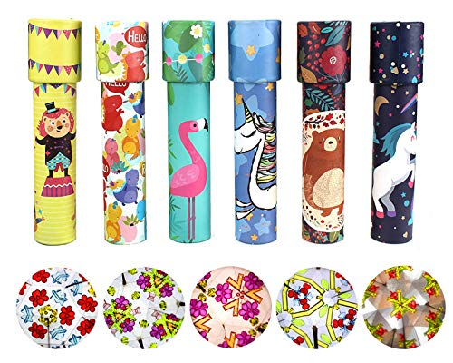 HAPTIME Classic Kaleidoscopes Educational Toys for Kids Party Favors Ideas Stock Stuffers Bag Fillers School Classroom Prizes, Fun for Boys Girls Children 3 4 5 6 7 8 9 Years Old (Set of 6)