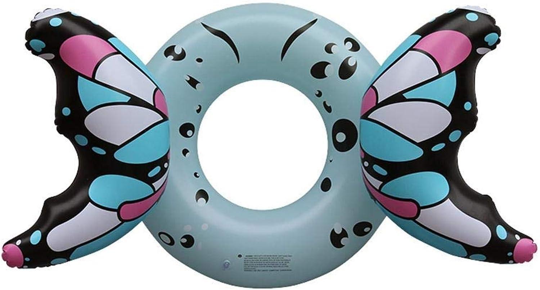 Anello di nuotata creativo Acqua gonfiabile Cute Butterfly Confortevole Soft Swim Ring Estate Portable Swimming Pool Beach Pool Decorazione Coppia di bambini adulti (2 Coloreeei) Decorazioni Giocattoli G