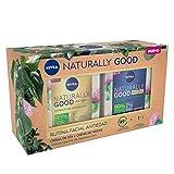 NIVEA Pack Naturally Good Rutina Facial Antiedad, caja de regalo mujer