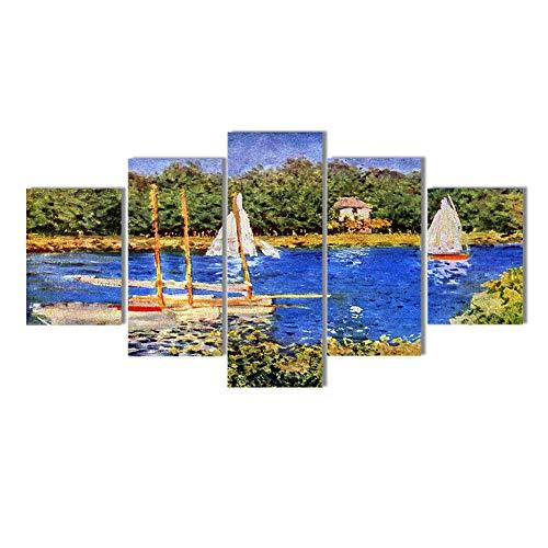 Franse impressionistische schilderij Art Print Poster Canvas schilderij muur foto's voor woonkamer Poster Wall art schilderij / 40x60 40x80 40x100cm geen frame