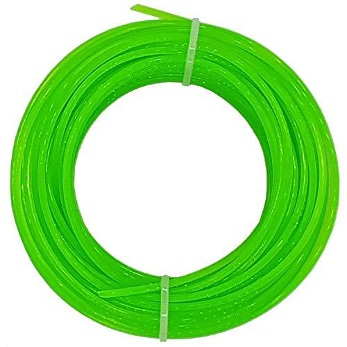 Land-Haus-Shop 1 Rolle Rasentrimmerschnur 2 mm PVC, Kunststoff Rasen Trimmer Schnur Faden, 15m (LHS)