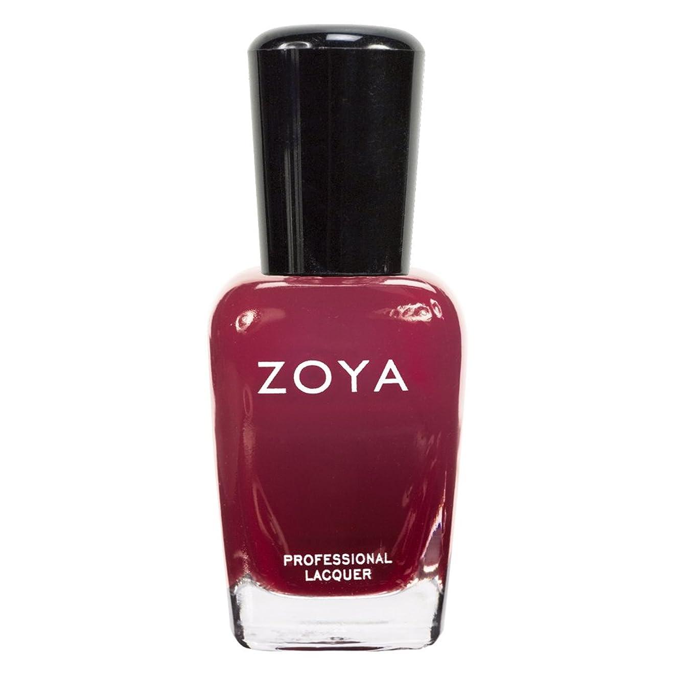 ZOYA ゾーヤ ネイルカラーZP455 DAKOTA ダコタ 15ml 深いブラウンレッド マット/クリーム 爪にやさしいネイルラッカーマニキュア