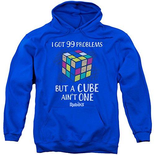 Rubik's Cube - Sudadera con capucha - Manga Larga - opaco - para hombre Azul azul