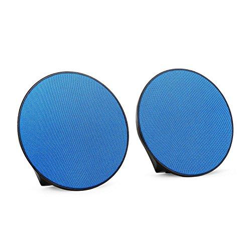 oneConcept - Dynasphere, Bluetooth-Lautsprecher, mobiler Außenlautsprecher, Boxen-Paar, drahtlose Musikwiedergabe, Status LEDs, Ultraleicht, blau