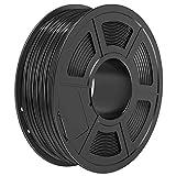 SUNLU Filamento ABS 1.75mm 1kg Impresora 3D Filamento, Precisión Dimensional +/- 0.02 mm (Black, ABS)