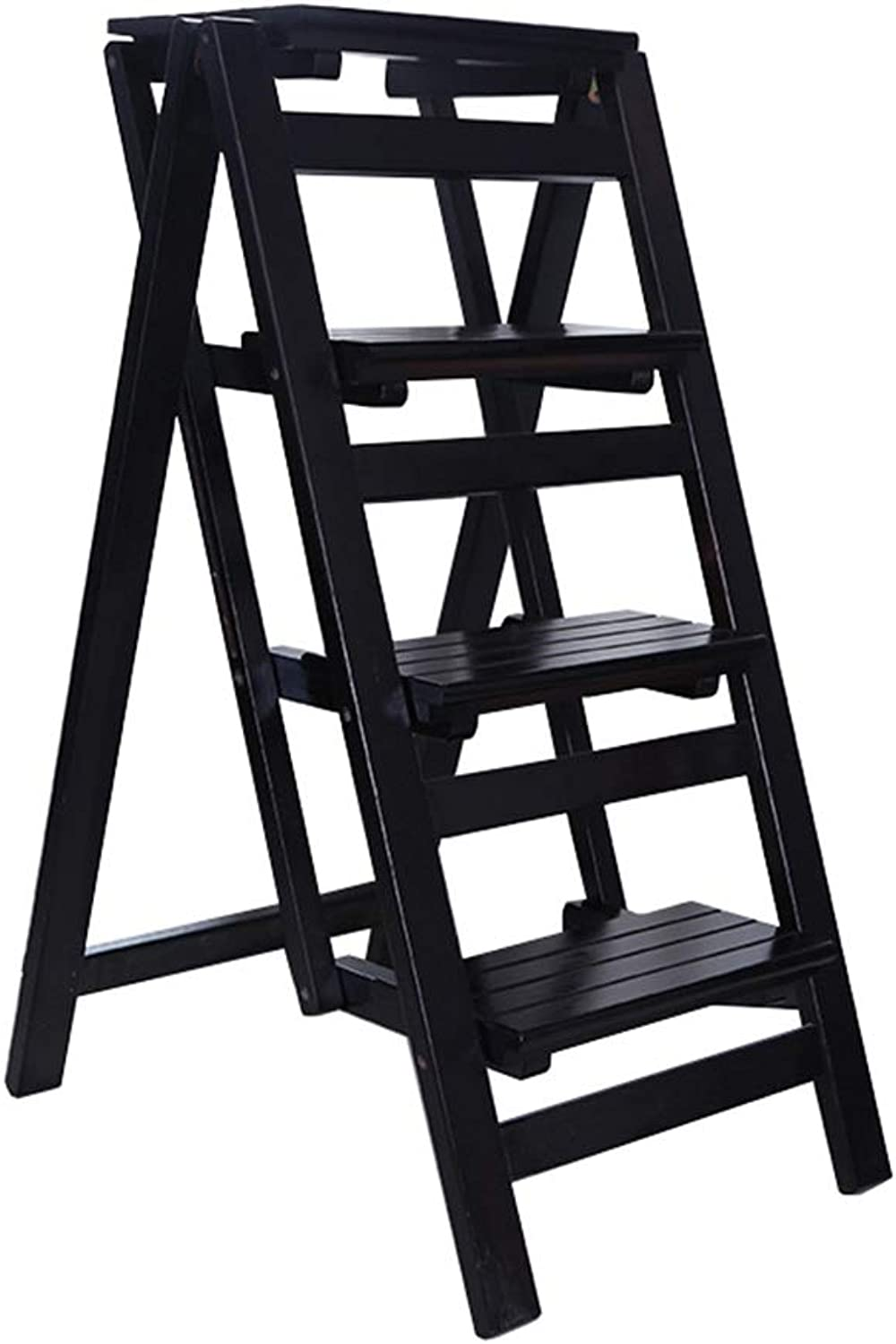 Plant Stand   Folding Portable Stepstool Ladder   Household Stair Stool Chair Wood   Stepladders for Kids & Adults   Home Garden Tool