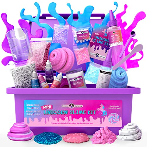 Original Stationery Mini Unicorn Slime Kit para Niñas Niñas - Fabrica Slime...