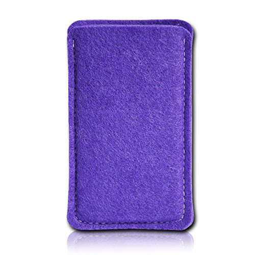 sw-mobile-shop Filz Style Wiko Riff Premium Filz Handy Tasche Hülle Etui passgenau für Wiko Riff - Farbe lila
