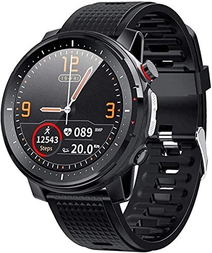 Smart Watch 1 3 pulgadas Full Fit Pantalla Redonda de Alta Definición Notificación de Llamadas Entrantes Multi-Deportes Monitoreo de Sueño Pulsera para Android y Ios-Negro