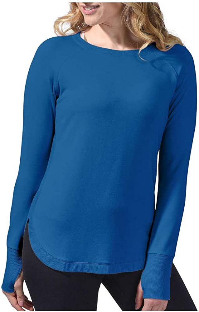 Active Life Womens Size Large L/S Pullover Modal Top, Peacock