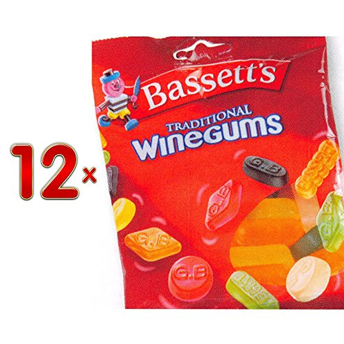 Bassett's Winegums traditional Sachets 12 x 400g Packung (traditionelle Weingummis)