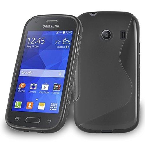 Cadorabo Funda para Samsung Galaxy Ace Style en ÓXIDO Negro - Cubierta...