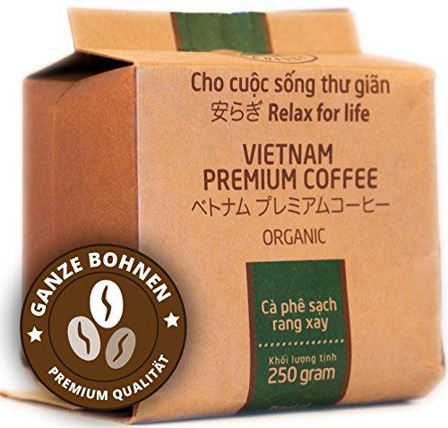 VietBeans Hello5 Organic – Hochwertige Kaffeebohnen aus der Vulkangestein-Region des zentralen Hochlands von Vietnam – Organisch angebauter Kaffee - Traditionell schonend und säurearm geröstet – 250g