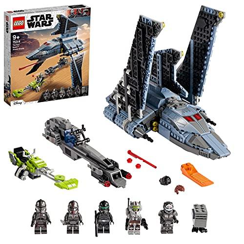 LEGO 75314 Star Wars The Bad Batch: Lanzadera de Ataque, Juguete de Construcción a Partir de 9 Años con 5 Mini Figuras de Clones y un Droide Gonk
