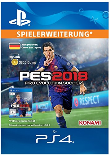 PES 2018 myClub Coin 3300 [PS4 Download Code - deutsches Konto]