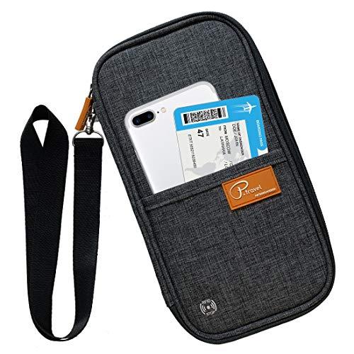 パスポートケース スキミング防止 首下げ パスポートバッグ 四つのパスポート スマホ収納可 貴重品入れ 航空券対応 軽量 防水 クラッチバッグ トラベルポーチ 海外出張 旅行グッズ